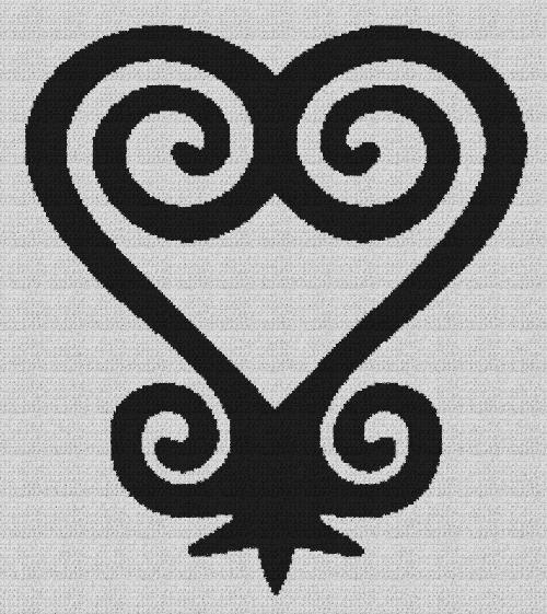 Sankofa Heart - Single Crochet Written Graphghan Pattern - 05 (204x230)