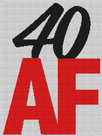 40 AF - Single Crochet Written Graphghan Pattern - 01 (173x230)