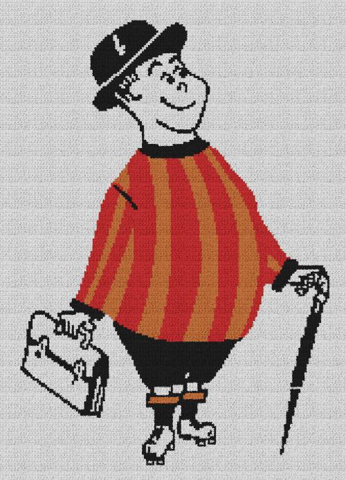 The City Gent - Single Crochet Written Graphghan Pattern - 01 (160x226)