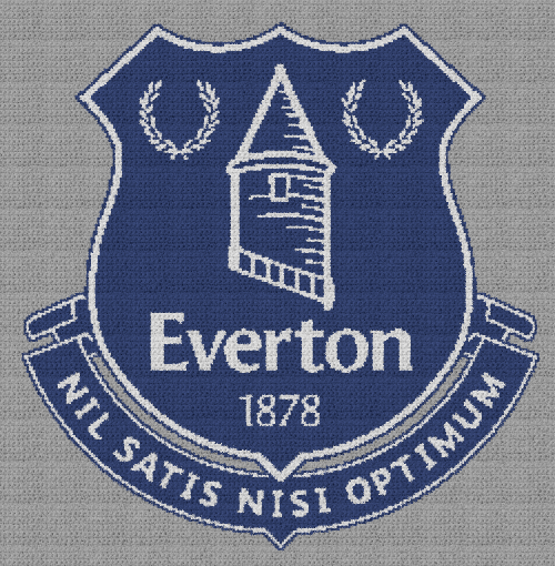 Everton Football Club - Single Crochet Written Graphghan Pattern - 01 (243x248)