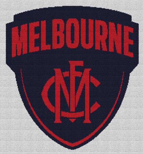 Melbourne Football Club - Single Crochet Written Graphghan Pattern - 01 (233x251)