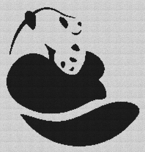 Panda Hugging Club - Single Crochet Written Graphghan Pattern - 08 (191x200)