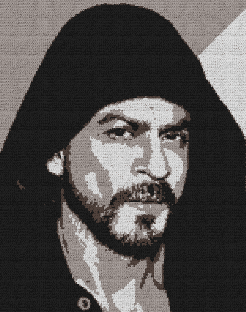 Shah Rukh Khan - Single Crochet Written Graphghan Pattern - 01 (158x200)