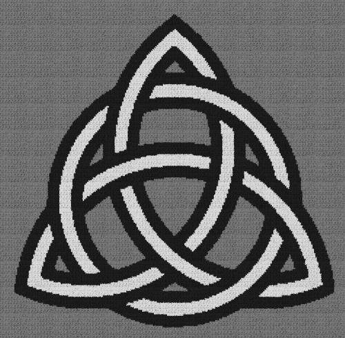 Celtic Knot - Single Crochet Written Graphghan Pattern - 03 (230x225)