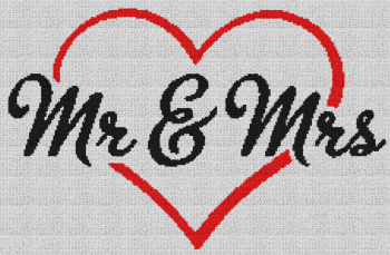 Mr & Mrs - Single Crochet Written Graphghan Pattern - 14 (229x150)