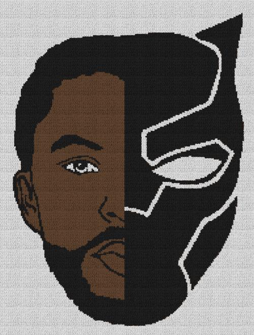 Black Panther - Single Crochet Written Graphghan Pattern - 01 (186x249)