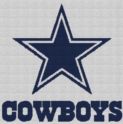 Dallas Cowboys - Single Crochet Written Graphghan Pattern - 02 (229x230)
