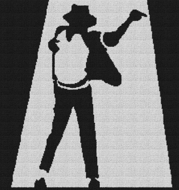 Michael Jackson - Single Crochet Written Graphghan Pattern - 08 (225x238)