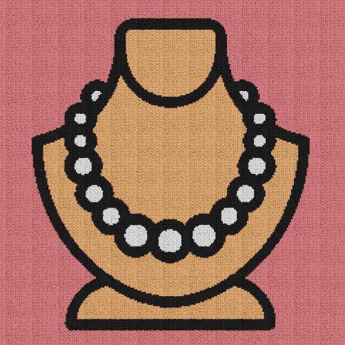 Pearl Necklace - Single Crochet Written Graphghan Pattern - 01 (235x235)