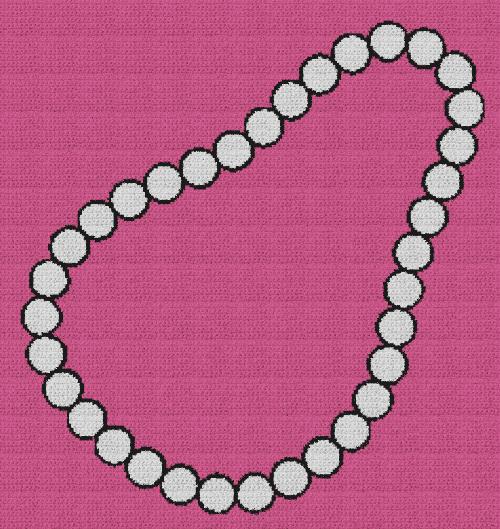 Pearl Necklace - Single Crochet Written Graphghan Pattern - 03 (230x244)