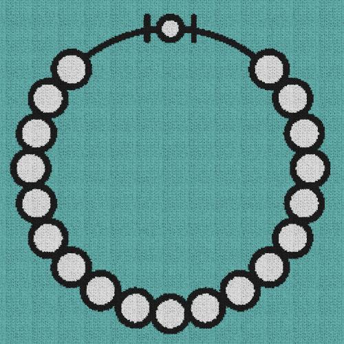 Pearl Necklace - Single Crochet Written Graphghan Pattern - 04 (240x240)