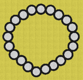 Pearl Necklace - Single Crochet Written Graphghan Pattern - 05 (240x230)