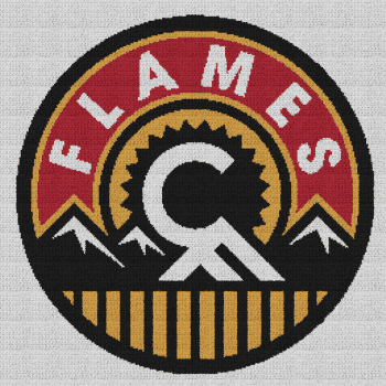 Calgary Flames - Single Crochet Written Graphghan Pattern - 02 (250x250)