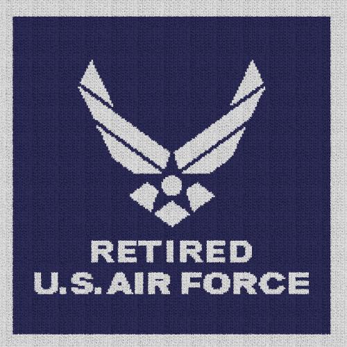 Retired U.S. Air Force - Single Crochet Written Graphghan Pattern - 06 (200x200)