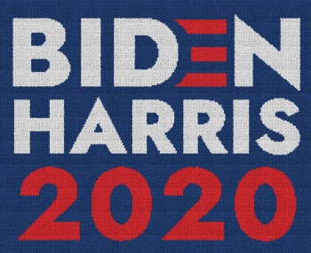 Biden Harris 2020 - Single Crochet Written Graphghan Pattern - 02 (230x185)
