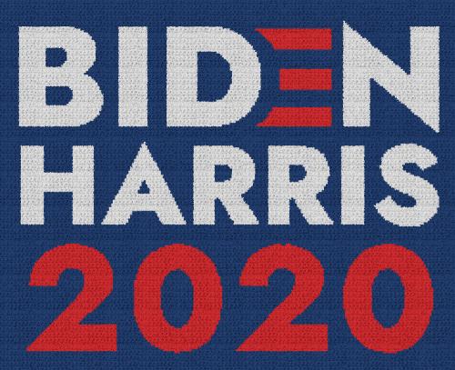 Biden Harris 2020 - Single Crochet Written Graphghan Pattern - 02 (230x185)