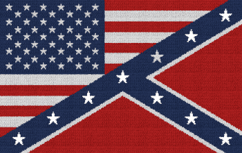 American/Confederate Flag Combo - Single Crochet Written Graphghan Pattern - 07 (250x158)