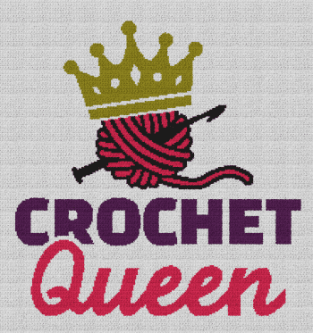 Crochet Queen - Single Crochet Written Graphghan Pattern - 01 (215x230)