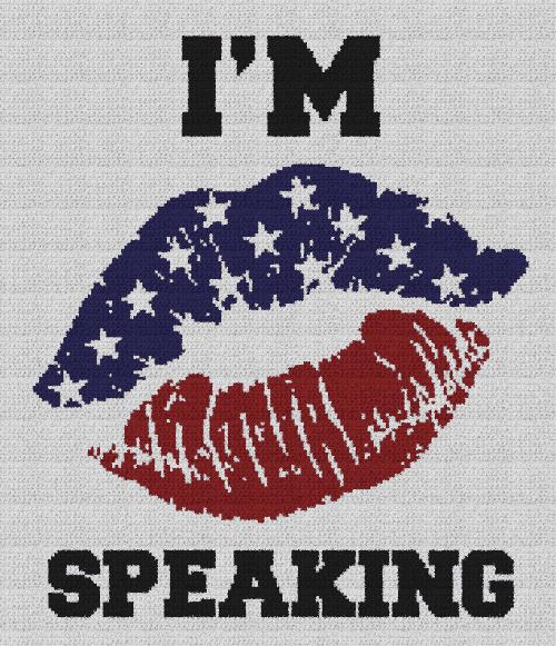 I'm Speaking - Single Crochet Written Graphghan Pattern - 01 (175x205)