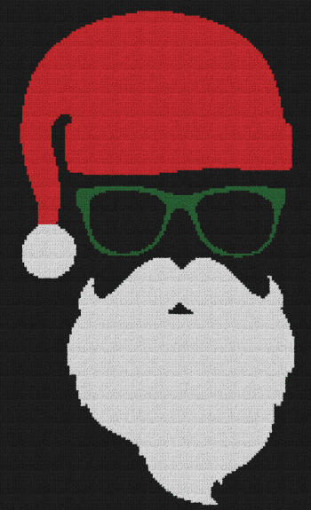 Cool Santa Claus - Single Crochet Written Graphghan Pattern - 03 (140x230)