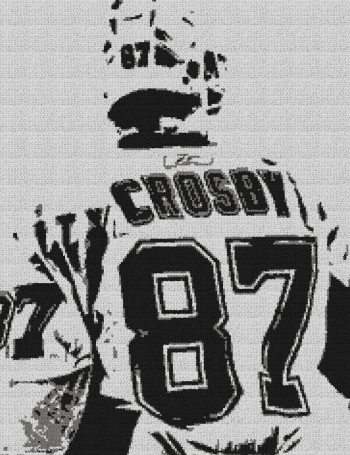 Sidney Crosby (Pittsburgh Penguins) - Single Crochet Written Graphghan Pattern - 01 (184x239)