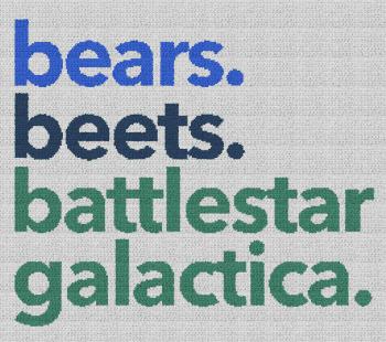 Bears, Beets, Battlestar Galactica (The Office) - Single Crochet Written Graphghan Pattern - 04 (250x220)