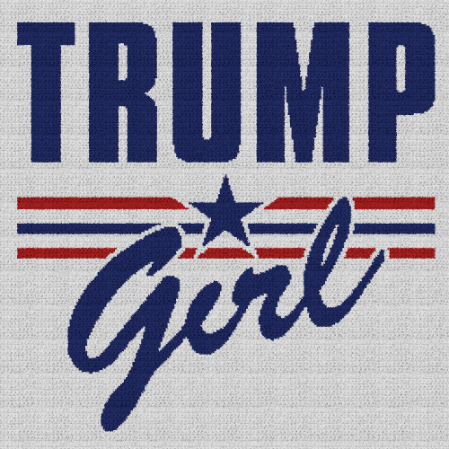 Trump Girl - Single Crochet Written Graphghan Pattern - 03 (250x250)