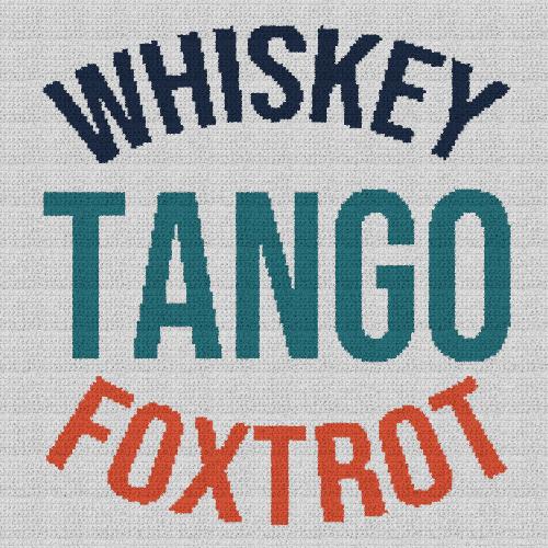 Whiskey Tango Foxtrot - Single Crochet Written Graphghan Pattern - 01 (180x180)