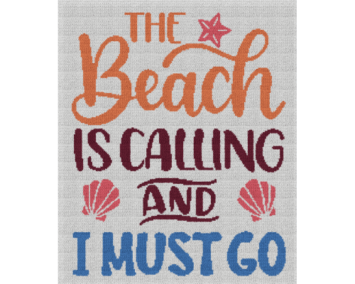 The Beach Is Calling and I Must Go - Single Crochet Written Graphghan Pattern - 02 (200x240)