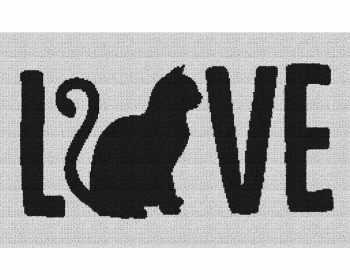 Cat Love - Single Crochet Written Graphghan Pattern - 06 (250x150)