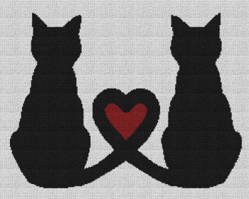 Cat Love - Single Crochet Written Graphghan Pattern - 07 (240x190)