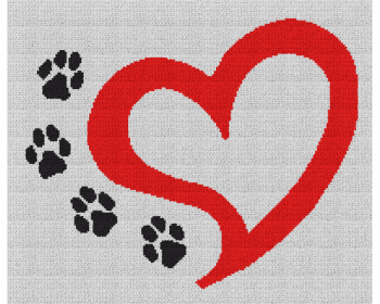 Dog Love - Single Crochet Written Graphghan Pattern - 07 (188x155)