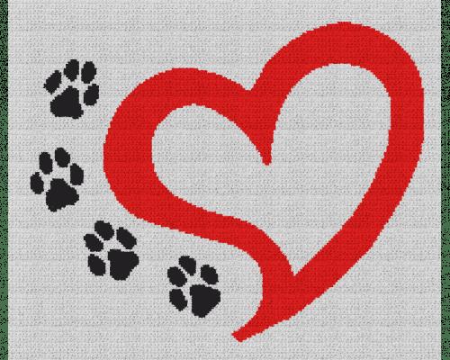 Dog Love - Single Crochet Written Graphghan Pattern - 07 (188x155)
