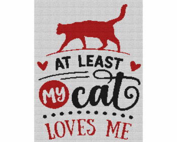 At Least My Cat Loves Me - Single Crochet Written Graphghan Pattern - 08 (184x240)
