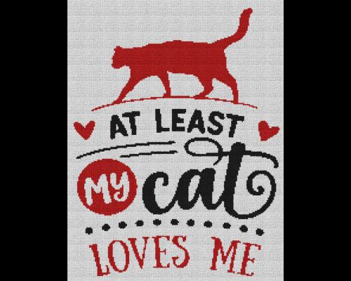 At Least My Cat Loves Me - Single Crochet Written Graphghan Pattern - 08 (184x240)