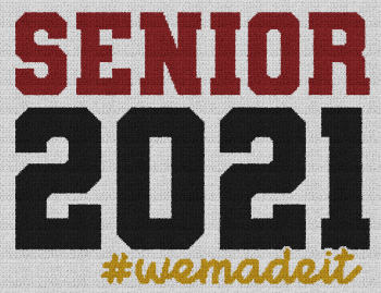 Senior 2021 #wemadeit - Single Crochet Written Graphghan Pattern - 03 (247x190)