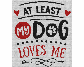 At Least My Dog Loves Me - Single Crochet Written Graphghan Pattern - 12 (220x250)