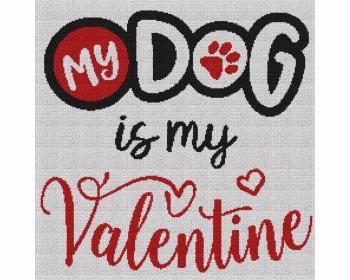 My Dog Is My Valentine - Single Crochet Written Graphghan Pattern - 13 (240x240)