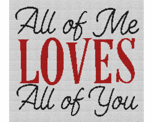 All of Me Loves All of You - Single Crochet Written Graphghan Pattern - 01 (220x200)