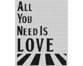All You Need Is Love - Single Crochet Written Graphghan Pattern - 02 (175x220)