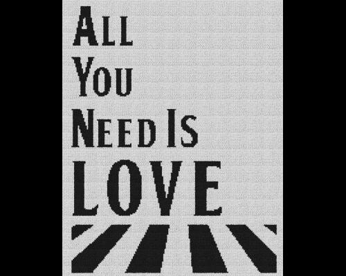 All You Need Is Love - Single Crochet Written Graphghan Pattern - 02 (175x220)