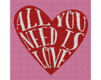 All You Need Is Love Heart - Single Crochet Written Graphghan Pattern - 03 (220x220)