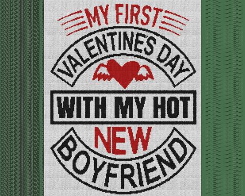 My First Valentine's Day With My Hot New Boyfriend - Single Crochet Written Graphghan Pattern - 04 (200x250)