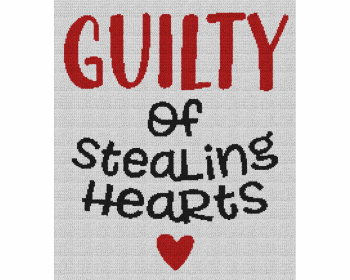 Guilty of Stealing Hearts - Single Crochet Written Graphghan Pattern - 05 (190x220)