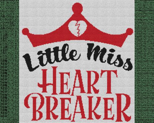 Little Miss Heart Breaker - Single Crochet Written Graphghan Pattern - 09 (215x230)