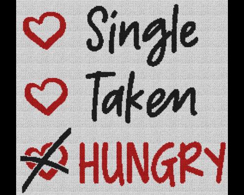 Single, Taken, Hungry - Single Crochet Written Graphghan Pattern - 10 (249x230)