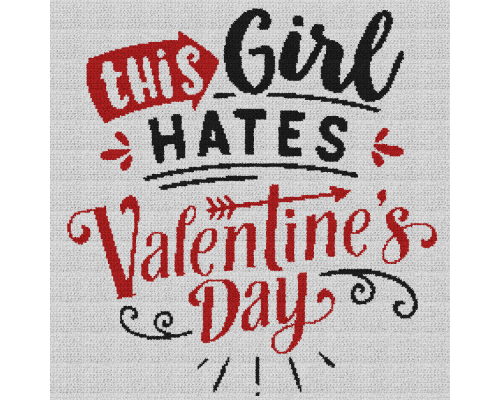 This Girl Hates Valentine's Day - Single Crochet Written Graphghan Pattern - 11 (230x230)