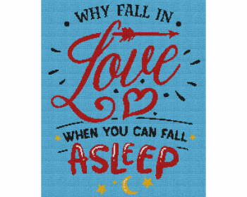 Why Fall In Love When You Can Fall Asleep - Single Crochet Written Graphghan Pattern - 12 (200x240)