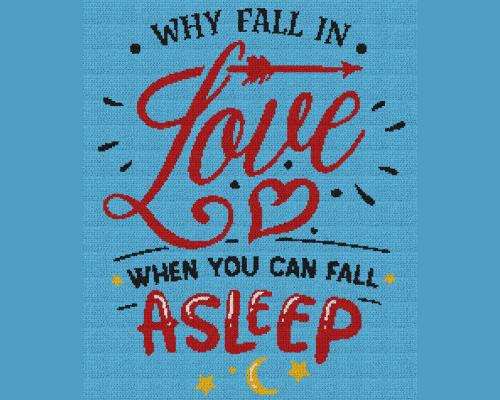 Why Fall In Love When You Can Fall Asleep - Single Crochet Written Graphghan Pattern - 12 (200x240)