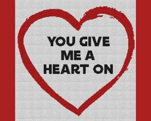 You Give Me a Heart On - Single Crochet Written Graphghan Pattern - 13 (230x230)
